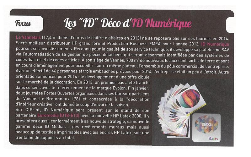 Signal Etiq - N°41 : Les ID déco d'ID Numérique
