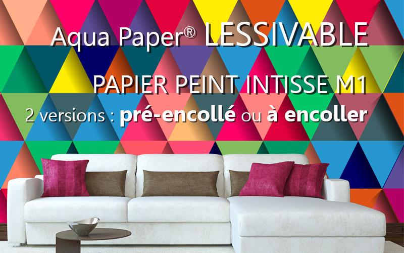 Aqua Paper : papier peint intissé pré encollé et à encoller