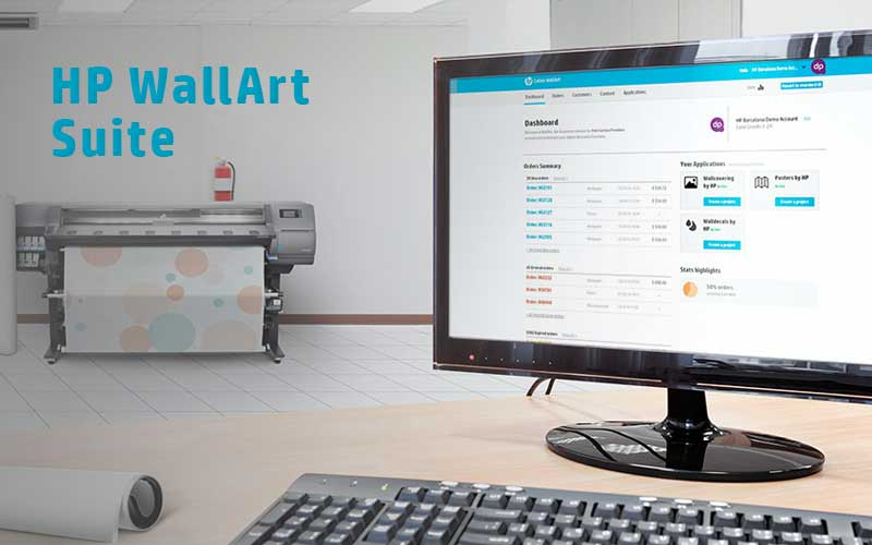 Solution Web-to-Print HP WallArt Suite