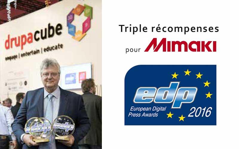 Triple récompenses pour Mimaki - EDP 2016