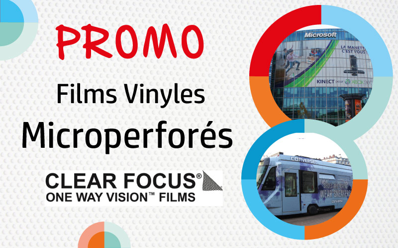 Films micro perforés Clear Focus en promotion