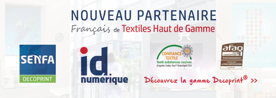 SENFA partenaire textiles haut de gamme d' ID Numérique