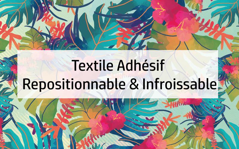 textile adhésif repositionnable